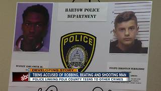 Two suspects arrested after elderly man beaten, shot and robbed while on a walk in Bartow - Video