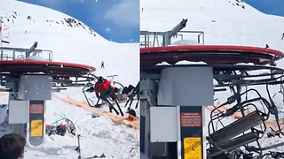 Ski Slopes Turn Into A NIGHTMARE After This Crazy Accident! - Video