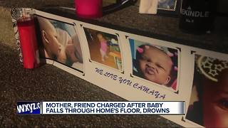 Mother, friend charged in basement drowning death of 11-month-old at Detroit home - Video