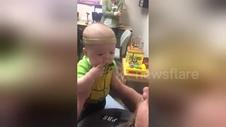Baby With Hearing Loss Hears His Father's Voice Clearly For First Time