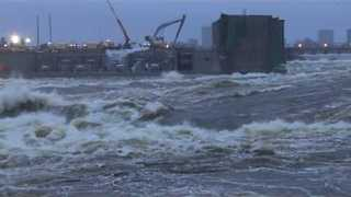 Ottawa River Spills Over Buildings at Chaudière Falls Hydro Station - Video