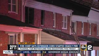 Baltimore Fire says fire that killed woman and small children caused by misuse of extension cord - Video