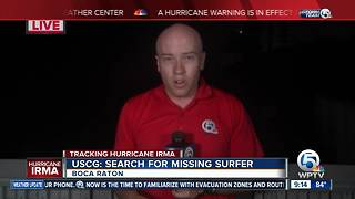 U.S. Coast Guard officials searching for missing surfer off Boca Inlet - Video