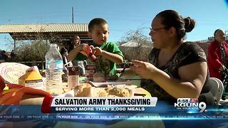 More than two thousand meals served at Salvation Army - Video