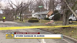 Severe storms cause damage, power outages in Akron