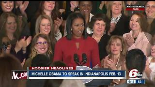Michelle Obama to speak at Bankers Life Fieldhouse in February - Video