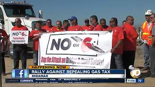 Rally against repealing gas tax