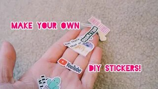 Make your own DIY Stickers!! | Gabby's Gallery