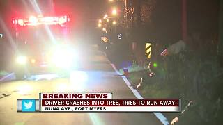 Fort Myers police investigating crash, that ends with chase - Video