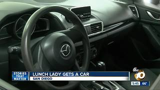 High School Lunch Lady gets a car - Video