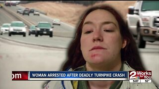 OHP: Tulsa woman arrested after deadly turnpike crash