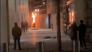 Antifa Attacks, Sets Fire to Federal Courthouse in Portland