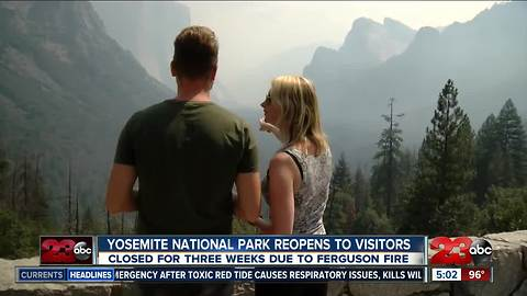 Yosemite National Park reopens to the public