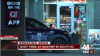 Gunshots hit Kansas City QuikTrip overnight; no reported injuries - Video
