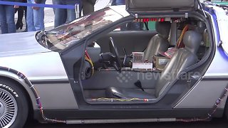 Back to the Future Time Machine at London motor show - Video