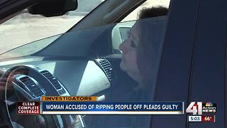 Woman accused of ripping people off pleads guilty - Video