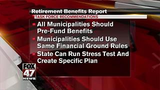 Snyder task force: Municipalities must prefund retiree care - Video