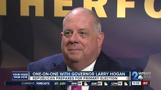 One-on-one with Governor Larry Hogan