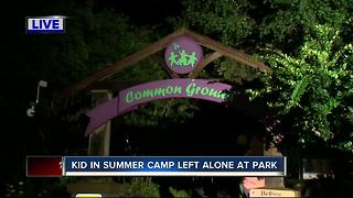 Kid in summer camp left alone at park - Video