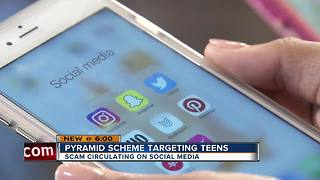 Warning of new social media pyramid scheme that is targeting teens