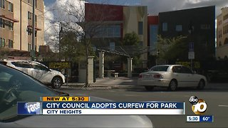 San Diego City Council OK's curfew at 5 parks