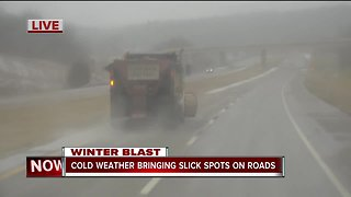 Crews clearing turnpikes during winter weather