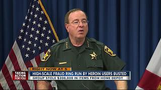 Sheriff Judd announces arrests, warrants in 'Nuthin' for Christmas but Jail' retail theft operation - Video