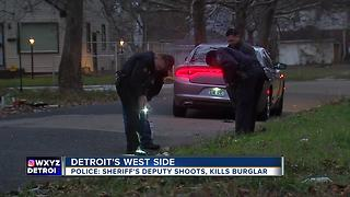 Off-duty Wayne County Sheriff's deputy shoots, kills suspected intruder - Video