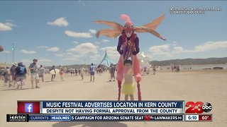 Music festival advertises Kern County venue, despite not having formal approval