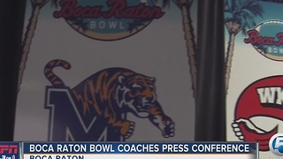 Boca Raton Bowl Coaches Press Conference - Video