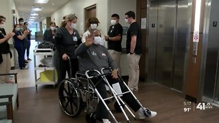 Lee's Summit man celebrates leaving hospital after months-long COVID-19 battle