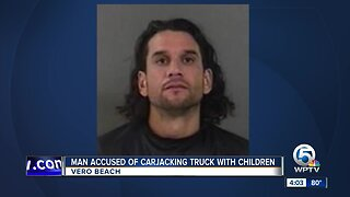 Man accused of carjacking vehicle with children inside