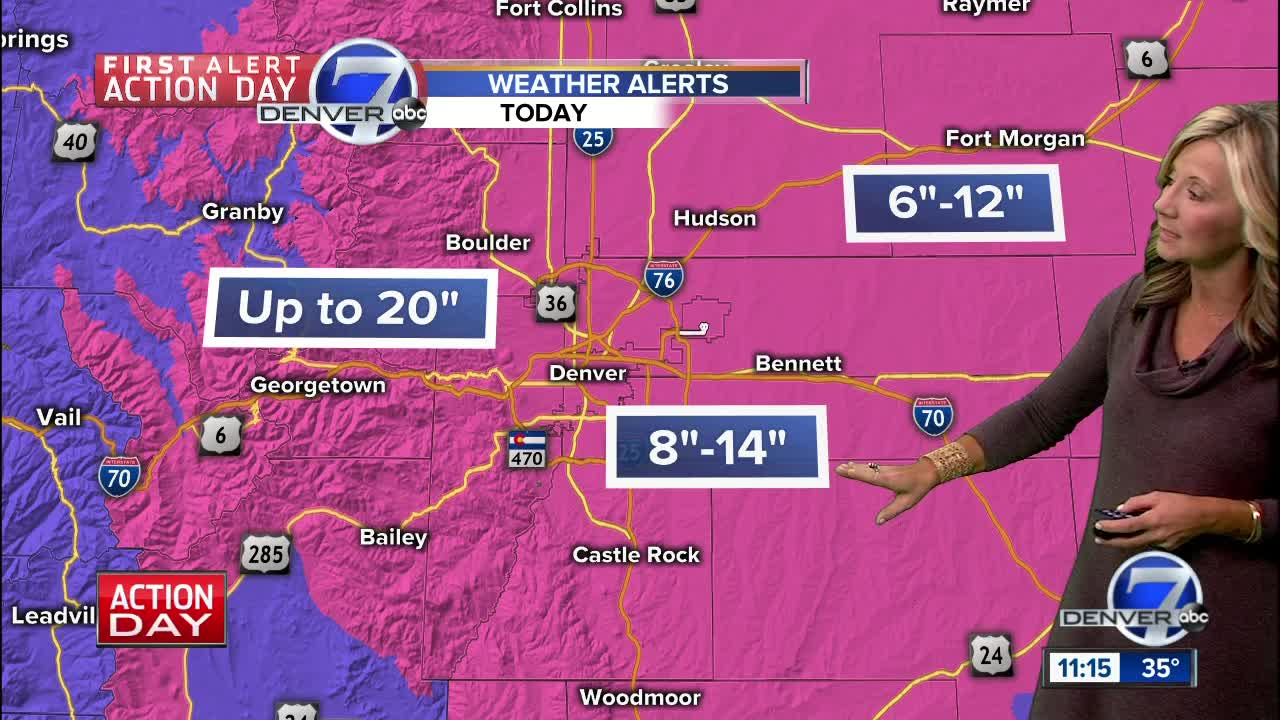 Snowfall timeline across Colorado