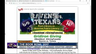 Pratt Library challenges Houston Public Library to a Book Bowl