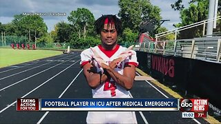 Football player in ICU after medical emergency