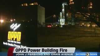 Fire at OPPD power plant - Video