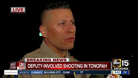 MCSO deputies involved in shooting in Tonopah