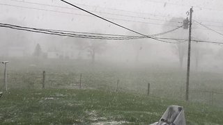 Spring Storm Brings Snow to Harrodsburg - Video