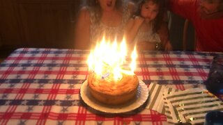 Crazy Incredible Candle surprises toddler