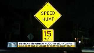 Detroit City Council to give update regarding speed humps in neighborhoods