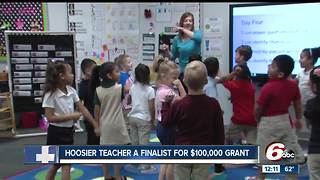 Hoosier teacher finalist for $100,000 grant - Video