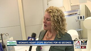 Woman's heart stops beating for 40 seconds