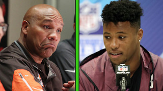 "Saquon Barkley Says It Would Be ""AWESOME"" to Be Drafted by the Browns - Video"
