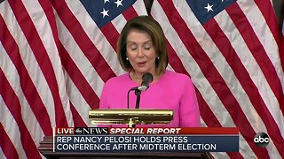 Nancy Pelosi holds press conference after midterm election