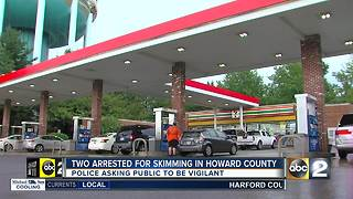 Police warning people about skimming crimes in Howard County - Video
