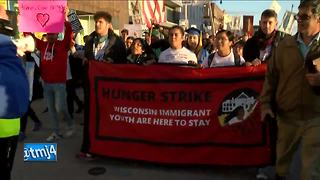 Protesters march in Racine after President Trump announces DACA rollback - Video