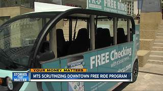 MTS scrutinizing downtown free ride program - Video