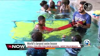 World's Largest Swimming Lesson in West Palm Beach - Video