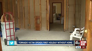 Polk County man thankful for family on Thanksgiving after October tornado damages his home