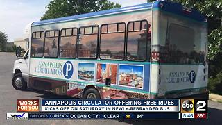 Annapolis Circulator to offer free rides - Video